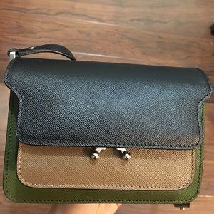 Marni mini trunk tri-color shoulder/crossbody bag
